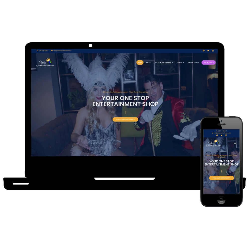 Celebs Entertainment Web Design Simple Sites
