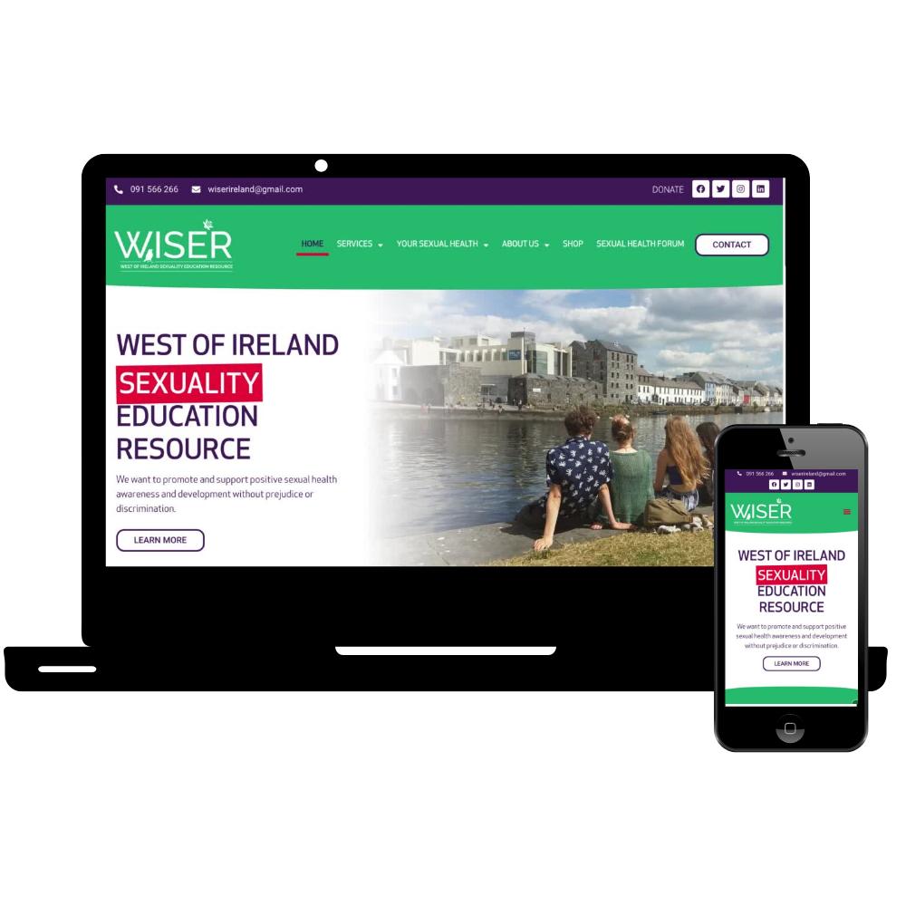 WISER bewiser.ie Simple Sites Web Design